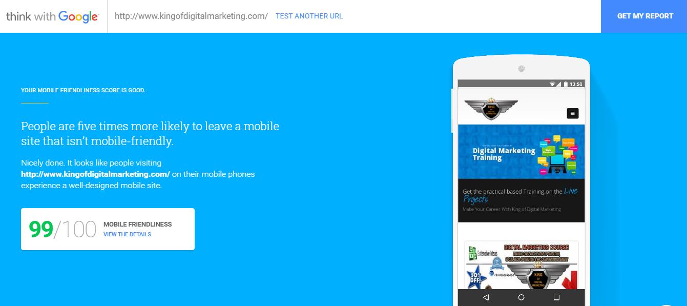 Google Website Speed Testing Tool | testmysite thinkwithgoogle