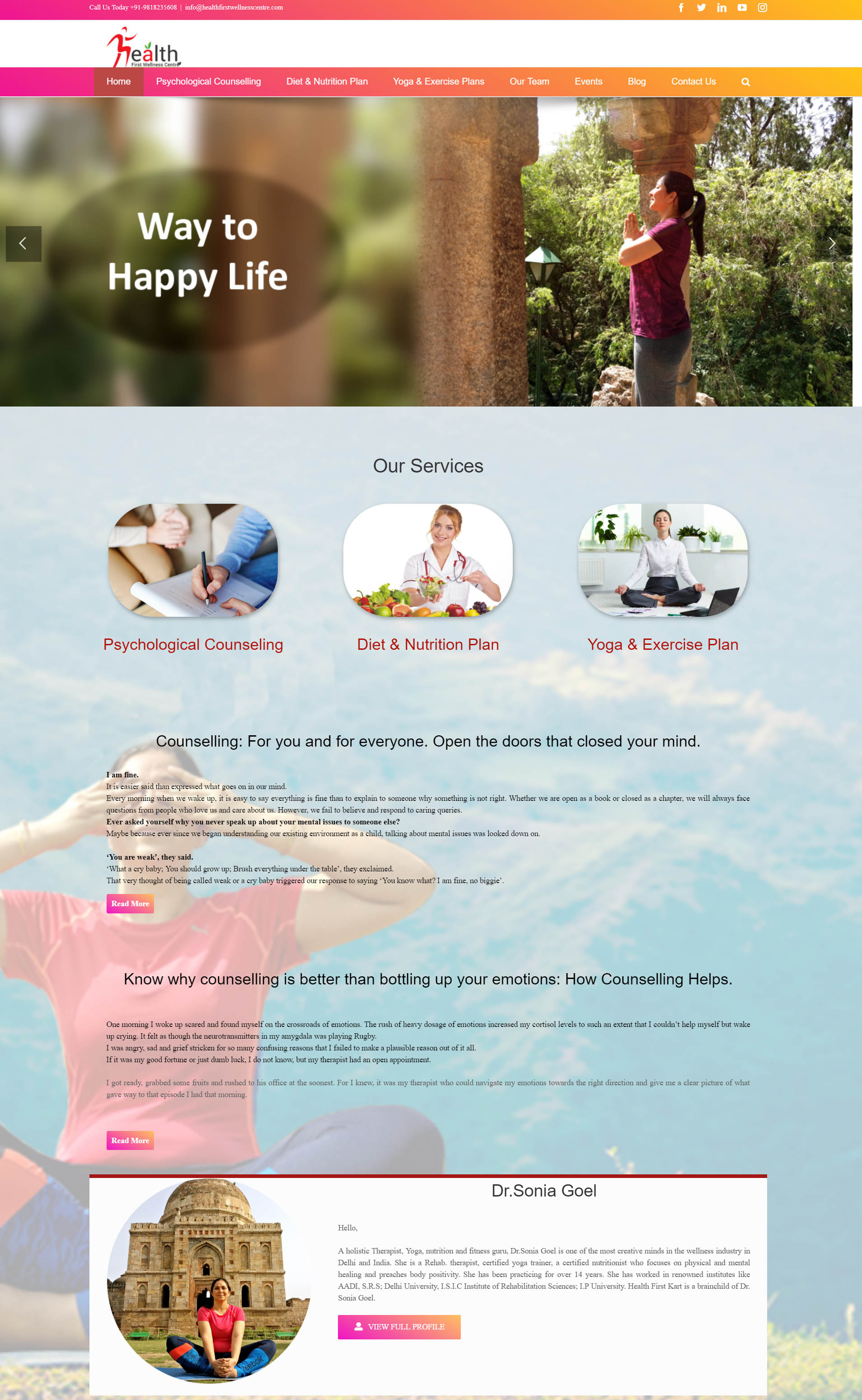 SEO for Health First Wellness Centre