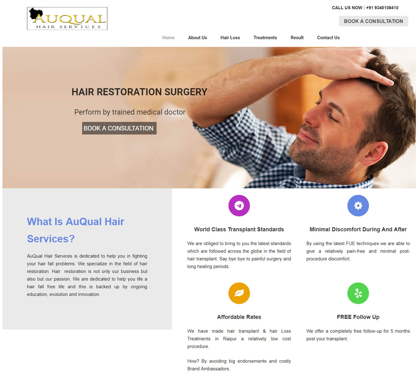 SEO for Auqual Hair Services